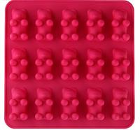 """Силиконовая форма для желейных конфет """"Мишки-малышки"""" на 15 ячеек"""