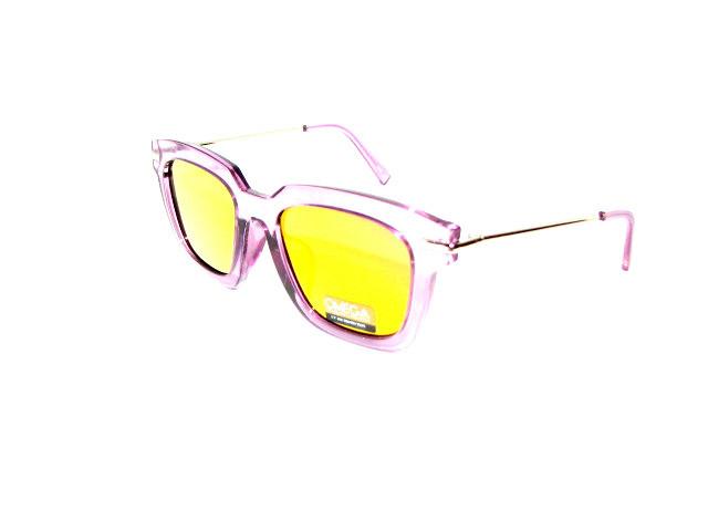 Солнцезащитные очки Omega, розовая, зеркальная