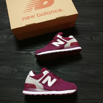 Женские кроссовки New Balance 574 розовые  топ реплика, фото 2