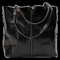 Удобная женская сумка из натуральной кожи черного цвета JJU-7544475, фото 1