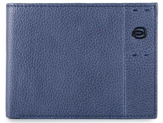 Добротное кожаное портмоне Портмоне Piquadro Pulse (P15) PU1241P15S_BLU синий