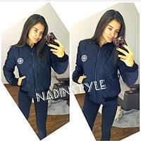 Женская стильная короткая куртка на молнии, 3 цвета