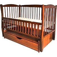 Кроватка Twins Elit Тик с маятником и ящиком