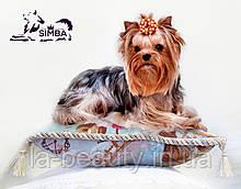 Декоративная подушка для собак для выставки и дома Vintage Blue от Pets Couturier SIMBA