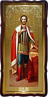 Святой Александр Невский в образе на иконе