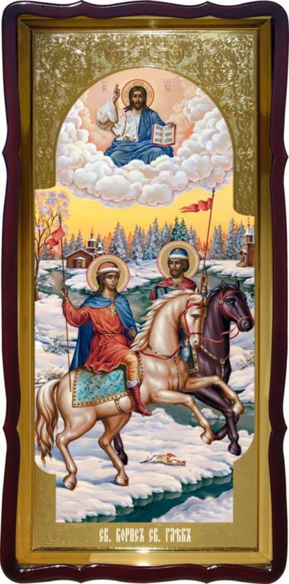 Святі Борис і Гліб велика храмова ікона