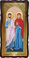 Святые Иоаким и Анна большая христианская икона