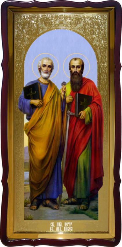 Святые Петр и Павел в образе на иконе