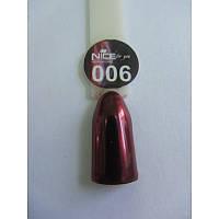 Зеркальная втирка для дизайна ногтей 006