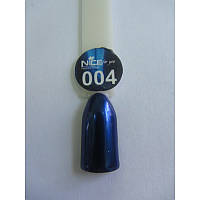 Зеркальная втирка для дизайна ногтей синяя 004