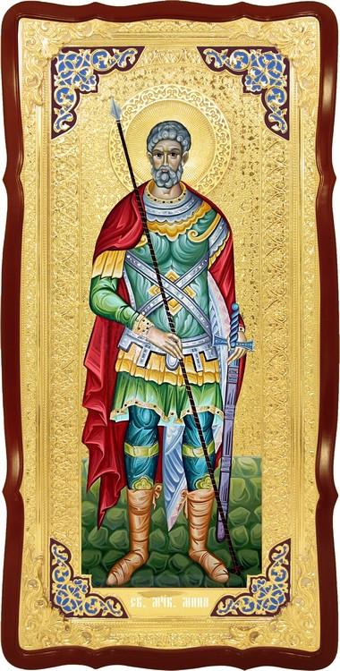 Настенная ростовая икона Святой Мина