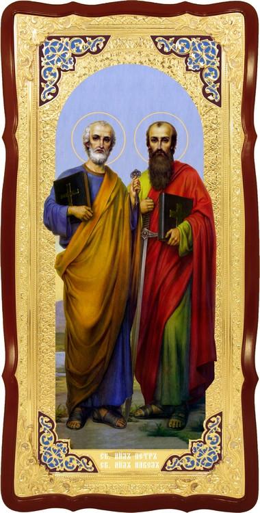 Церковна велика ікона Святі Петро і Павло