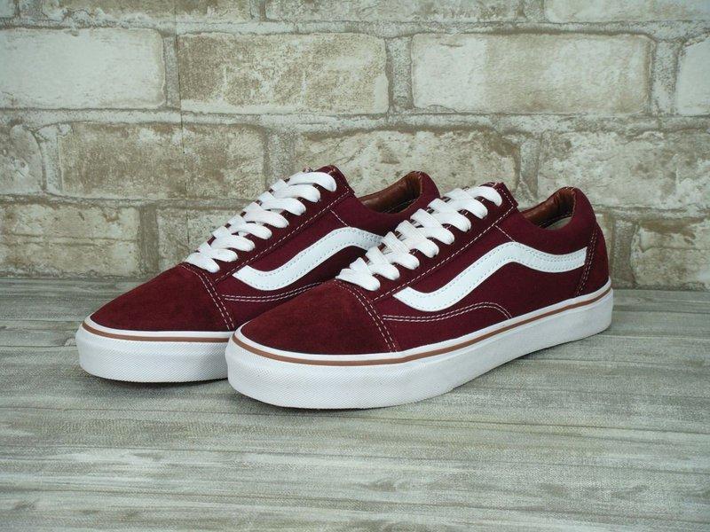 Бордовые женские кеды VANS Old Skool (Вансы) N0165 - Интернет магазин обуви  Wikishoes в 92c3a708fba