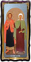 Християнська церковна ікона Святі Адріан і Наталія