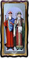 Святые Владимир и Ольга храмовая настенная икона