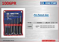 Выколотки в наборе  6 ед., 2-8мм в чехле, KING TONY 1006PR.