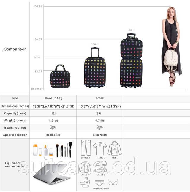 Чемодан имеет одно основное отделение на молнии, внутри ремни фиксации  багажа, на крышке - карман-сеточка на молнии. b1f49f860c9
