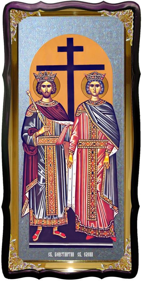 Святі Костянтин і Олена велика настінна ікона