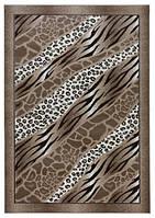 Ковёр Версаль, цвет коричневый. Узор зебра, леопард