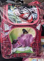 Ранец каркасный с бабочками