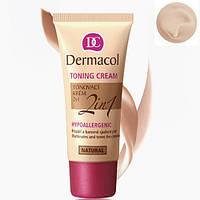 Тональный крем увлажняющий 2в1 Dermacol Make-Up Toning Cream № 02 (Biscuit)