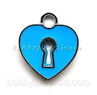 Подвеска с эмалью Сердце (1,8*1,5 см)
