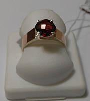 Кольцо серебряное с золотом и гранатом Орион