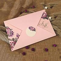Приглашения розового цвета (арт. 52539)