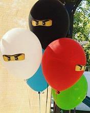 """Воздушные шарики 10шт. пастель Ниндзяго 12"""" (30 см)."""