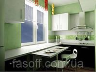 Кухня модерн МДФ крашеный 006