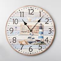 """Часы настенные в морском стиле """"Маяк"""" (35 см) из МДФ"""