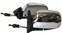 Зеркало боковое с поворотом ЗБ 3107A LED Chrome, подойдет для ВАЗ 2107/ 2104/ 2105 (2 шт.)