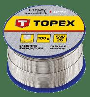 Припiй оловянный TOPEX  60% Sn, проволока 0.7 мм, 100 г 44E512