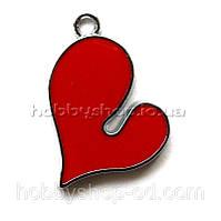 Подвеска с эмалью Сердце (2,6*2 см)
