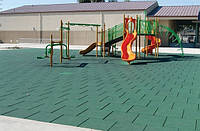 Травмобезопасное резиновое напольное покрытие  для детских площадок