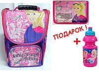 """Комплект. Рюкзак школьный каркасный """"Barbie"""" 974704 + пенал,  ТМ """"Smile"""""""