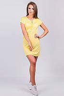 Сарафан женский с коротким рукавом AG-0003377 Лимонный