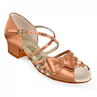 Туфли для танцев  детские блок каблук Galex Бантик