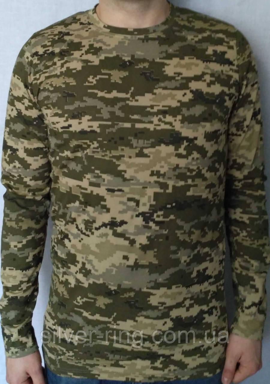 Камуфляжная пиксельная футболка с длинными рукавами