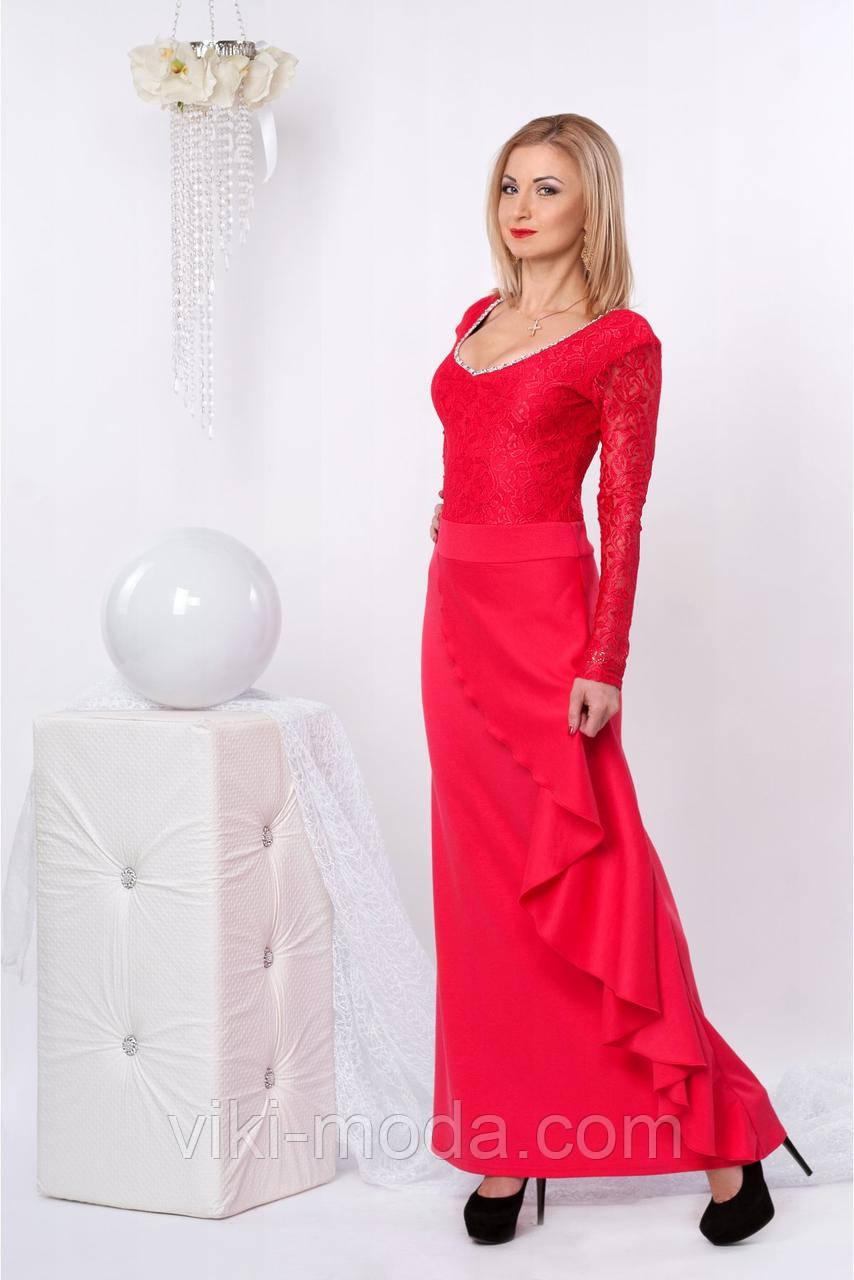 Шикарное вечернее платье в пол