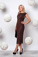 Платье из трикотажной замши