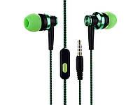 Провідна гарнітура для мобільного телефону або планшета 3.5 мм  зелений
