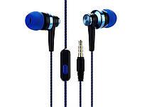 Провідна гарнітура для мобільного телефону або планшета 3.5 мм  синій