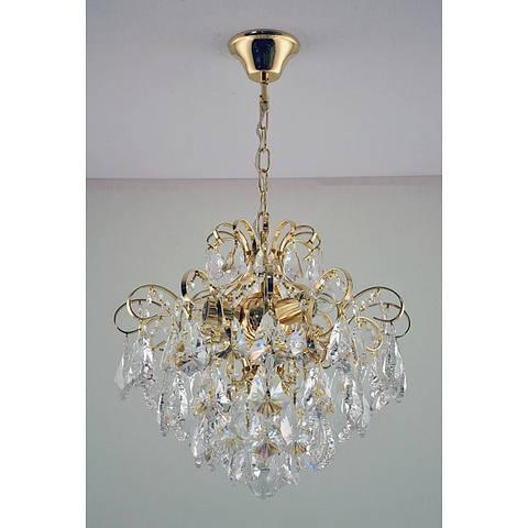 Хрустальная люстра золотая на три лампы SW-12125/3C FG