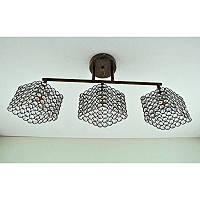 Люстра коричневая на три лампы с хрустальным плафоном SW-12152/3 GD Coffee