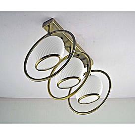 Люстра бронзовая на три лампы с белым плафоном SW-12149/3C AB