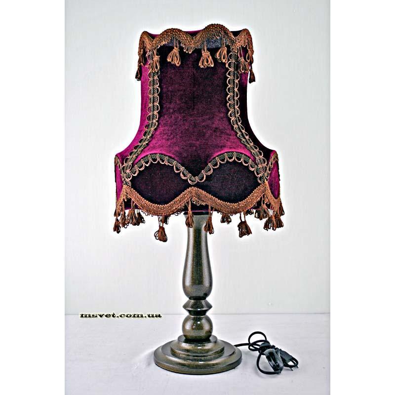 Деревянная настольная лампа с абажуром Н/Л Колокол №2