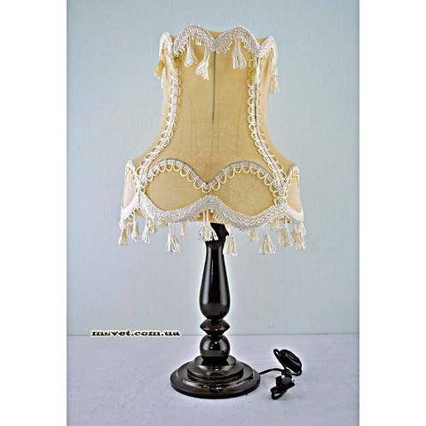 Деревянная настольная лампа с абажуром Н/Л Колокол №3