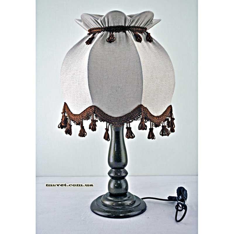 Деревянная настольная лампа с абажуром Н/Л Купол №1