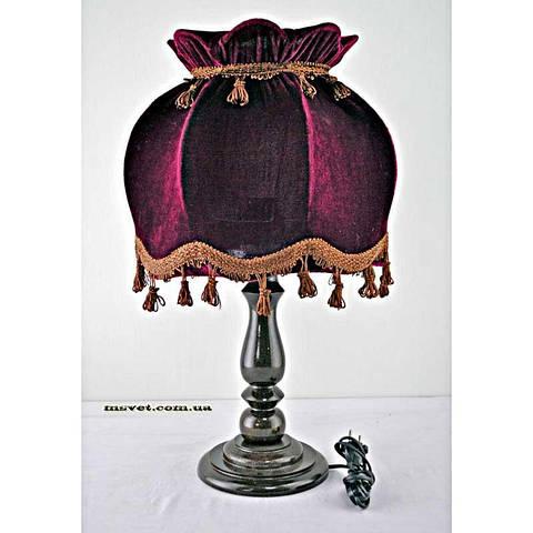 Деревянная настольная лампа с абажуром Н/Л Купол №2